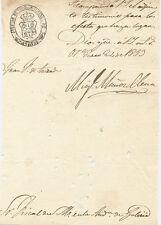 Escrito del año 1853. Juzgado de Ourense.