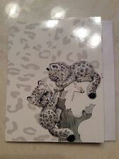 ADORABLE RUTH MOREHEAD BABY SNOW LEOPARD NOTE CARD