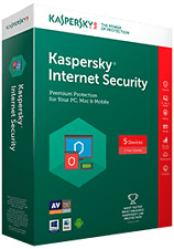 Kaspersky Internet Security 2017 For 3 Users New Latest Version 1 Year