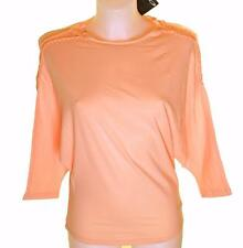Bnwt Womens Oakley 3/4 Stretch Batwing T Shirt Large Peach Regular Fit