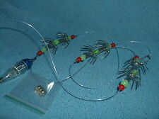 SQUID LURE & JIG ...RIG..BLUE FLASHING LIGHT...3 X DOUBLE HOOKED..,SEA FISHING