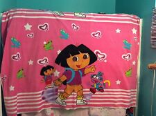 "Rare Dora the explorer Butterflies Pink Fleece Panel Fabric, 36"" by 64"""