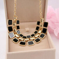 Fashion Charm Crystal Choker Chain Chunky Statement Bib Necklace Jewelry