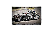 1942 Harley Davidson Wla Bike Motorcycle A4 Photo Poster