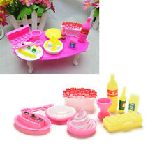 10 Pcs/set Birthday Cake Accessories for Barbies Kids Girls Play House Toys TS