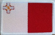 MALTA Flag Patch With VELCRO® Brand Fastener Military Emblem #7