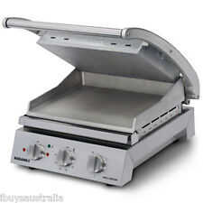 Roband Commercial 6 Slice Smooth Plate 2200W Grill / Sandwich Press GSA610S