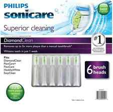 6 Pack Philips Sonicare Diamond Clean Replacement Brush Heads Flexcare