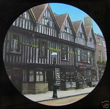 Glass Magic lantern slide STRATFORD UPON AVON C1890 THE SHAKESPEARE HOSTELRIE