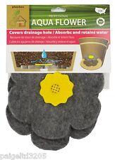 Plastec Aqua Flower Drainage Hole Cover - Gray