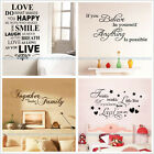 Wall Sticker Quote Words Poem Art Vinyl Decal Mural Home Room Decor DIY