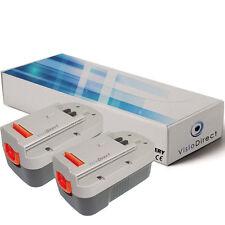 Lot de 2 batteries 18V 3000mAh pour Black et decker XTC183BK - Sté Française -
