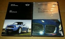 Lot of Two 2007 Press Information Kits - DVDs - Mini USA & BMW US, Detroit, MI
