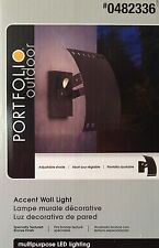 PORTFOLIO OUTDOOR Contemporary LED Accent Wall Lantern Light - Bronze Finish NEW