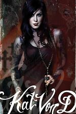 Kat Von D Look to Kill poster!  24x36!  SEXY!  Brand new- shipped rolled!