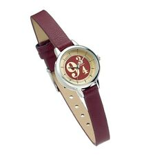 Official Harry Potter Platforma 9 3/4 Wrist Watch Hogwarts Movie Bordeaux Steel