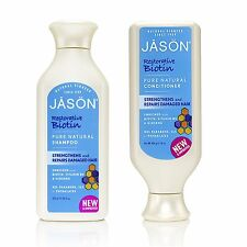 Jason ORGÁNICO BIOTINA Shampoo & Acondicionador 480ml-No Parabenos/Ftalatos