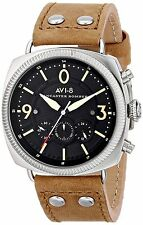NWT AVI-8 Men's AV-4022-02 Lancaster Bomber Stainless Steel Watch Leather $199