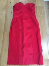 Mk1 New With Tags Red Strapless Sateen Look Dress Size 10