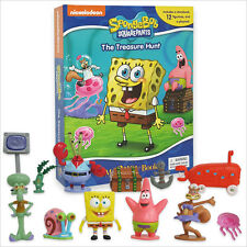 SPONGEBOB SQUAREPANTS BUSY BOOK STORY 12 FIGURES AND A PLAYMAT BRAND NEW