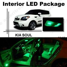 For Kia Soul 2011-2013 Green LED Interior Kit + Green License Light LED