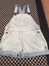 Cute NEXT Denim Dungarees Play suit Shorts 7 Yrs.