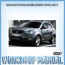 SSANGYONG KORANDO 2010-2012 WORKSHOP REPAIR SERVICE MANUAL IN DISC