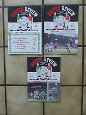 3 x Manchester United Home Football Programmes - Div 1 - 1990/1991 - Lot 68