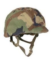US Army PASGT MARSOC Helm Replica w woodland camouflage Helmet cover w Cat Eye