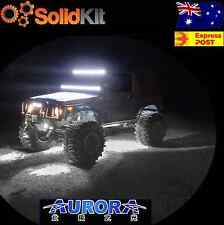 Twin Pack WHITE Aurora Mini Rock Under Vehicle LED Flush Reverse work light bar