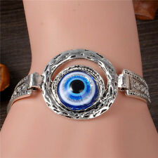 Turkey Kabbalah Blue Evil Eye Glaze Beads Chain Bracelet Jewelry Turkish