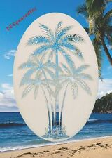New 15x23 Oval PALM TREE WINDOW CLING Vinyl Glass Decals - Tropical Door Decor