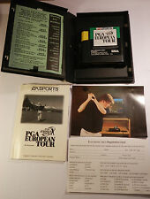 Sega Mega Drive Genesis System PGA EUROPEAN TOUR Box + Manual by E.A Sports 1994