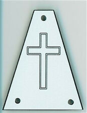 GUITAR TRUSS ROD COVER - Custom Engraved - Fits JACKSON - CROSS - WHITE