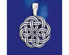 Sterling Silver Celtic Knot Pendant Keltic Ireland Charm Solid 925 Italy New