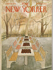 1975 New Yorker September 29 - Checkers in the Park