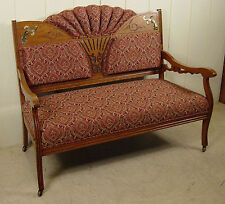 Antique Oak Late Victorian Settee