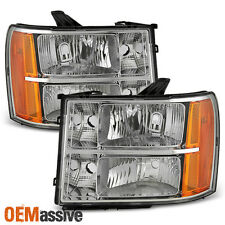 2007-2013 GMC Sierra 1500 07-14 2500HD 3500HD Clear Headlights Replacement Lamps
