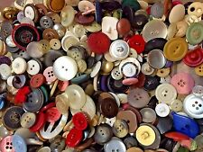 LOT of 100 Mixed Buttons Wooden Resin  Craft Sewing Scrapbook DIY Cards Various