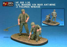 Hobby Fan 1:35 Scale US Marine Anti-mine NAM 2 Figures w/Bases Resin Kit HF555