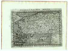 Carte anc. MAGINI map 1597 ASIA MINOR Anatolie Turquie Chypre Rhodes Crête 213