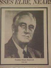 VINTAGE NEWSPAPER HEADLINE ~WORLD WAR 2 TRUMAN PRESIDENT ROOSEVELT FDR DEAD WWII
