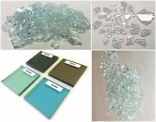 "2 Lbs. Broken Tempered Glass for Craft/Art Projects - SOLEXIA (green) 1/4"" Thick"