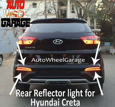 Rear Bumper Back Tail Reflector LED Brake Fog DRL Light For Hyundai Creta