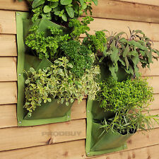 4 x 3 Pocket Burgon & Ball Green Leaf Verti-Plant Vertical Garden Wall Planters
