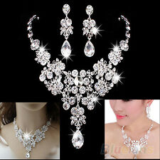 Women's Fashion Necklace + Earrings Necklace Banquet Wedding Jewelry Set Vivid