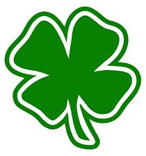 FOUR 4 LEAF CLOVER Vinyl Decal Sticker Car Window Wall Bumper Lucky Symbol Irish