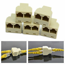 RJ45 Splitter Adapter 1 to 2 Female Port CAT 5/CAT 6 LAN Ethernet Plug US SELLER