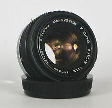 OLYMPUS OM-SYSTEM F.ZUIKO AUTO-S 50mm f1.8 LENS. SERVICED. WARRANTY. #381.