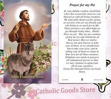 St Francis of Assisi - Prayer for my Pet - Paperstock Holy Card